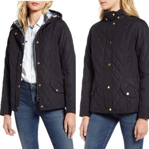 NEW Barbour Millfire Diamond Quilted Jacket Black
